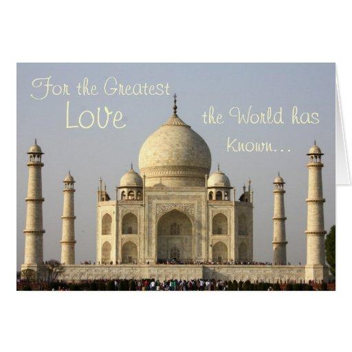Para el amor más grande el mundo ha sabido… tarjeta de felicitación