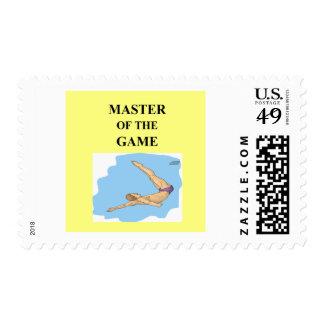 para el buceador timbres postales