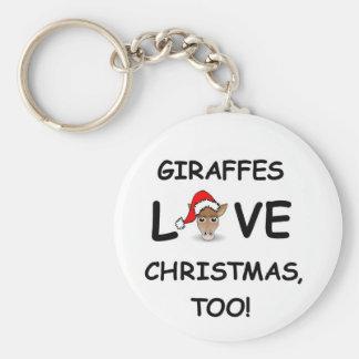 ¡Para el colector de la JIRAFA para el navidad! Llavero Redondo Tipo Pin