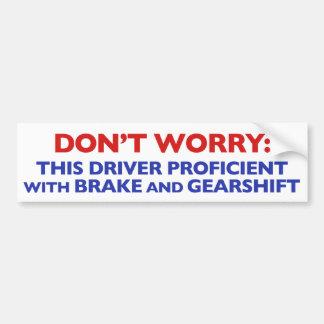 Para el conductor confiado de Toyota Pegatina Para Auto