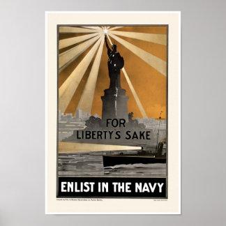 Para el ~ del motivo de la libertad aliste en la m póster