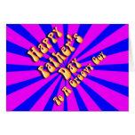 Para el día de padre retro del individuo tarjeta de felicitación