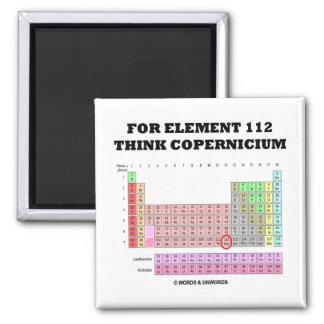 Para el elemento 112 piense Copernicium Imanes Para Frigoríficos