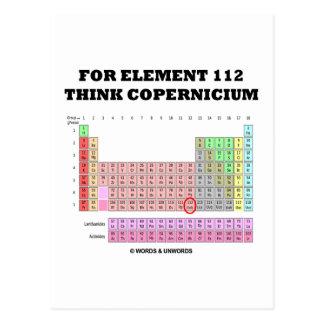 Para el elemento 112 piense Copernicium Postales