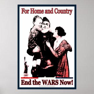 ¡Para el extremo del hogar y del país las guerras  Póster