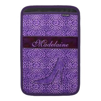 Para el guepardo femenino de la púrpura del funda para macbook air