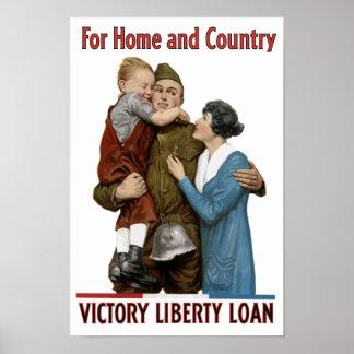 Para el hogar y el país -- Préstamo de la libertad Posters