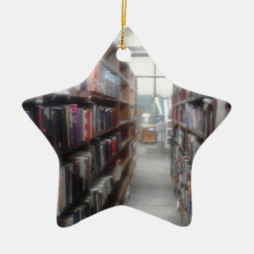 Para el lector en usted adorno navideño de cerámica en forma de estrella