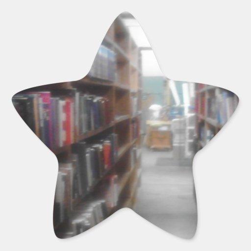 Para el lector en usted calcomanías forma de estrella