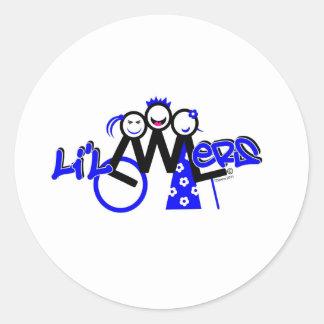 Para el L'il LWLers Pegatina Redonda