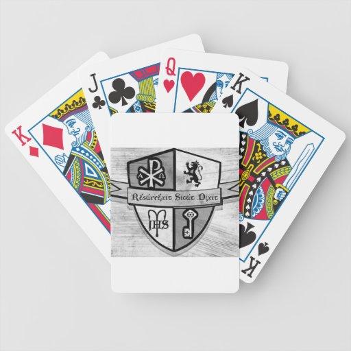 Para el logotipo blanco y negro del rey y del país barajas de cartas