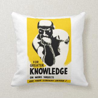 Para el mayor conocimiento almohadas