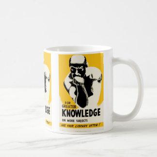 Para el mayor conocimiento taza básica blanca