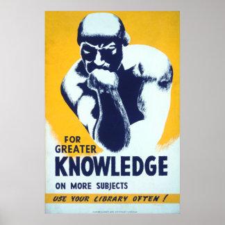 Para el mayor conocimiento - utilice su biblioteca póster