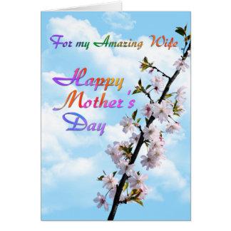 Para el mi día de madre feliz de la esposa asombro felicitacion