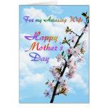 Para el mi día de madre feliz de la esposa tarjeta de felicitación