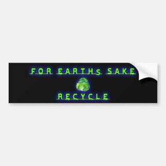 Para el motivo de Earht, recicle Pegatina Para Auto