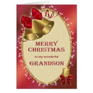 Para el nieto, tarjeta de Navidad tradicional