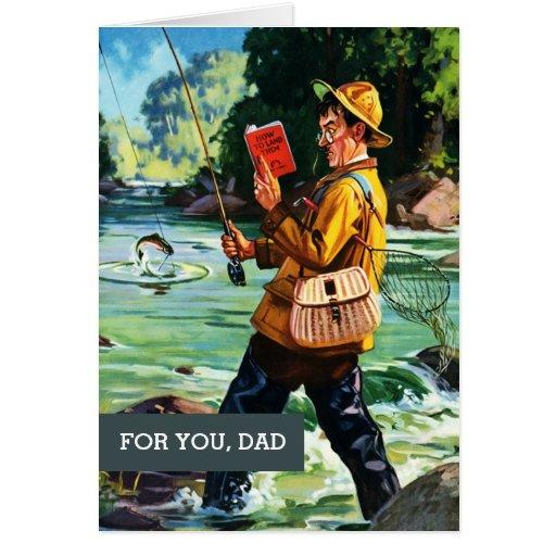 Para el padre el el día de padre. Escena de la pes Felicitación