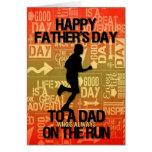 para el papá en el tema del deporte del corredor d tarjetas