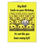 ¡Para el papá, sonrisa en su cumpleaños! Tarjeton