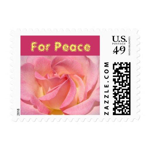 Para el personalizado color de rosa rosado de la sello
