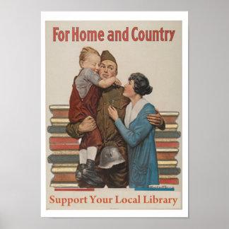 Para el poster del hogar y del país