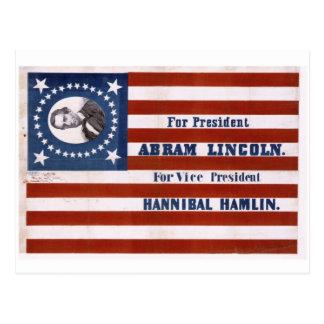 Para el presidente, Abram Lincoln Tarjeta Postal