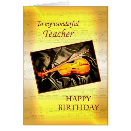 Para el profesor, una tarjeta de cumpleaños