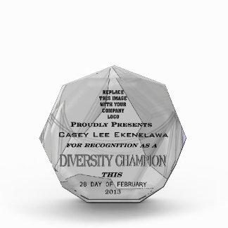 Para el reconocimiento como premio del campeón de