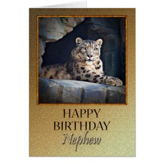 Para el sobrino al cumpleaños con una onza tarjeta de felicitación