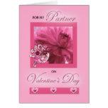 Para el socio de la vida en margarita del rosa del tarjeta