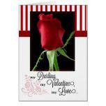para el socio de la vida en rosa rojo del el día d tarjetón