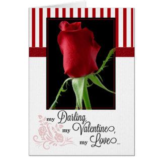 para el socio de la vida en rosa rojo del el día d tarjeta de felicitación