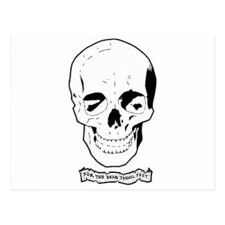 Para el viaje muerto ayune tarjeta postal