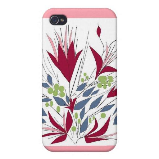 Para ella, caso florido del iphone iPhone 4 fundas