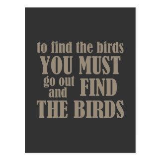 Para encontrar los pájaros postales