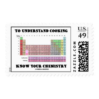 Para entender cocinar sepa su química estampilla