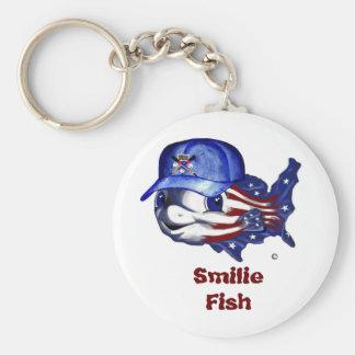 para enviar, pescados de Smilie Llavero Redondo Tipo Pin