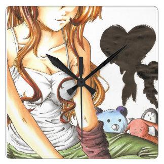 Para escribir amor en sus brazos reloj cuadrado