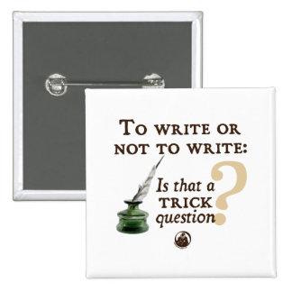 Para escribir o no escribir pins