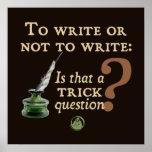 Para escribir o no escribir posters