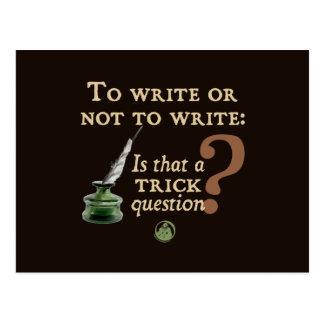 Para escribir o no escribir tarjeta postal
