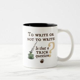 Para escribir o no escribir taza de café
