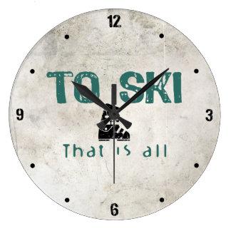 Para esquiar es todo reloj redondo grande