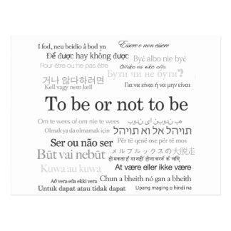 Para estar o no estar en muchas idiomas postal