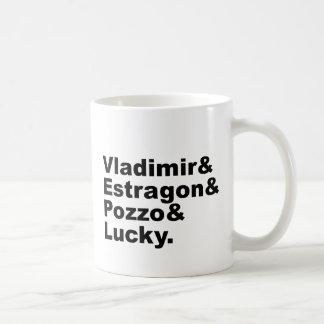 Para estragón Pozzo de Godot que espera - de Vladi Taza De Café