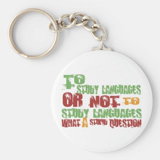 Para estudiar idiomas llaveros personalizados