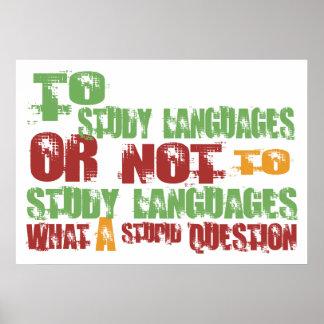 Para estudiar idiomas póster