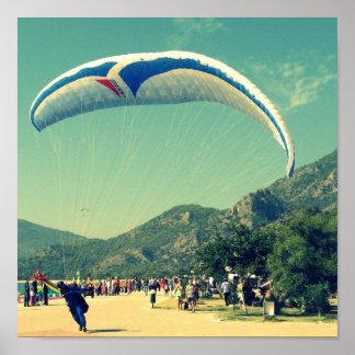 Para Glider Landing Print